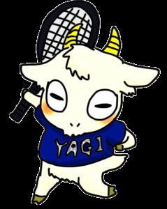 やぎテニスのメインキャラクター「やぎやぎ」
